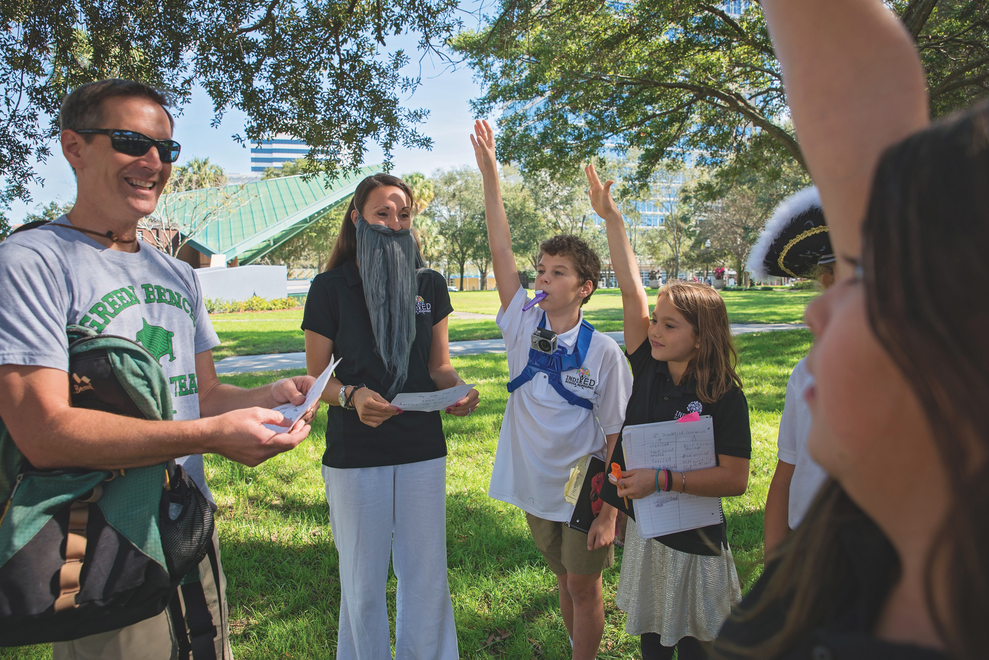 Indi-ED class learning about local history in Downtown St Pete. Photo by Kelly Nash Photography.