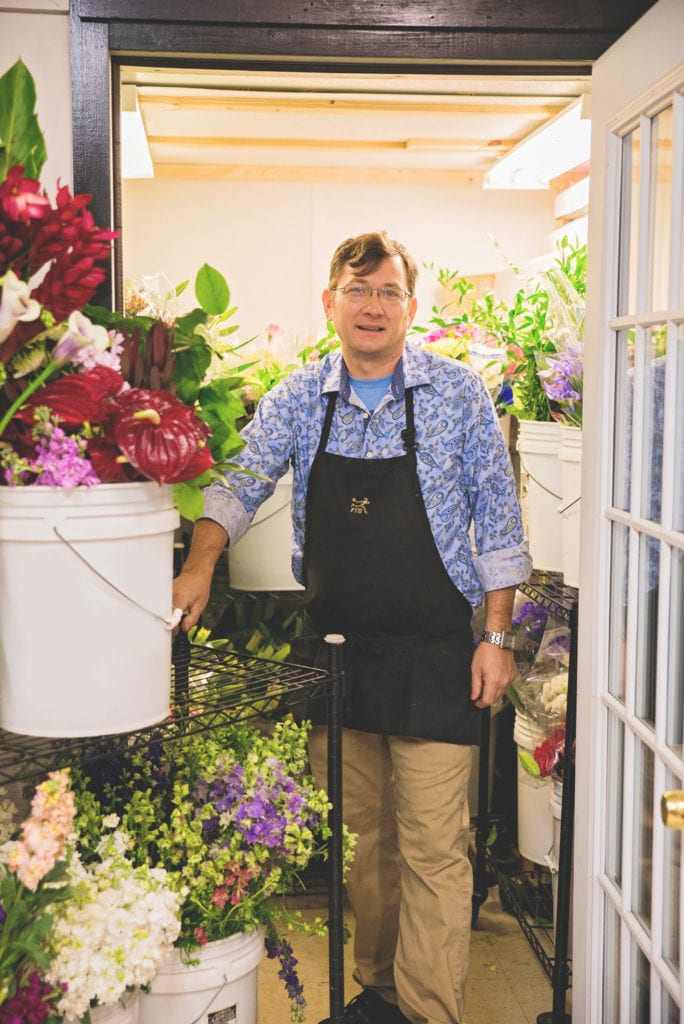 Shop owner and floral artist | Brad Catlin Absolutely Beautiful Flowers by Kelly Nash Photography