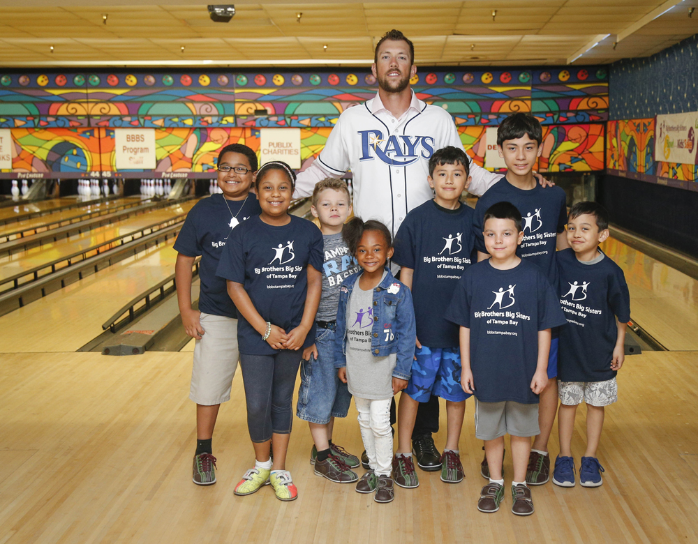 Tampa Bay Rays Right Fielder, Steven Souza Jr. with little Brothers and Sisters.