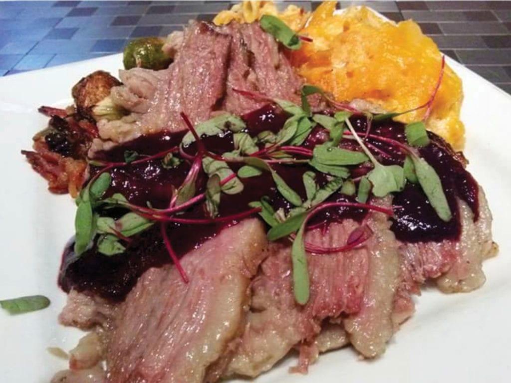 Braised Blueberry Bourbon Barbeque Beef Brisket