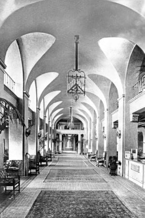 Vinoy Park Hotel lobby, 192- – Photo from State Library & Archives of FL