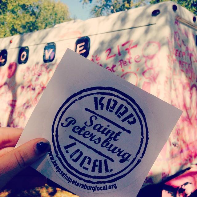 Localtopia - photo of KSPL sticker and nomad art bus