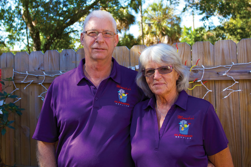Bill and Monika Turner Owners of Monika's Cleaning