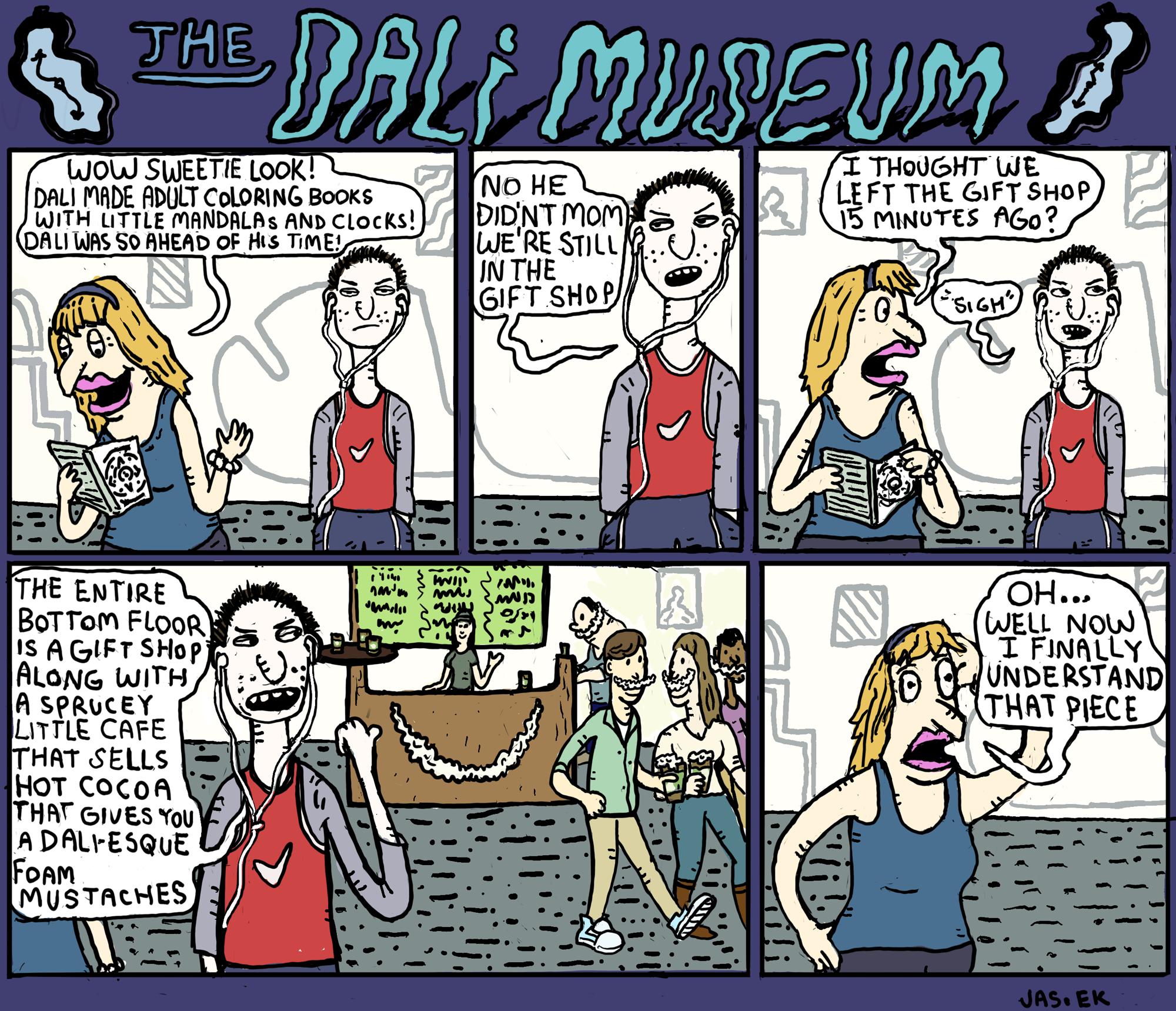 The Dali Museum. Comic by Erik Jasek.