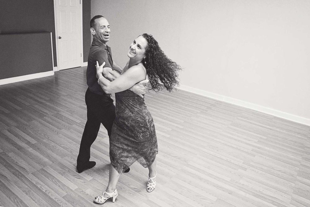 Michael Raisch Practicing with a Student at St. Pete Dance Studio. Photos by Kelly Nash Photography.