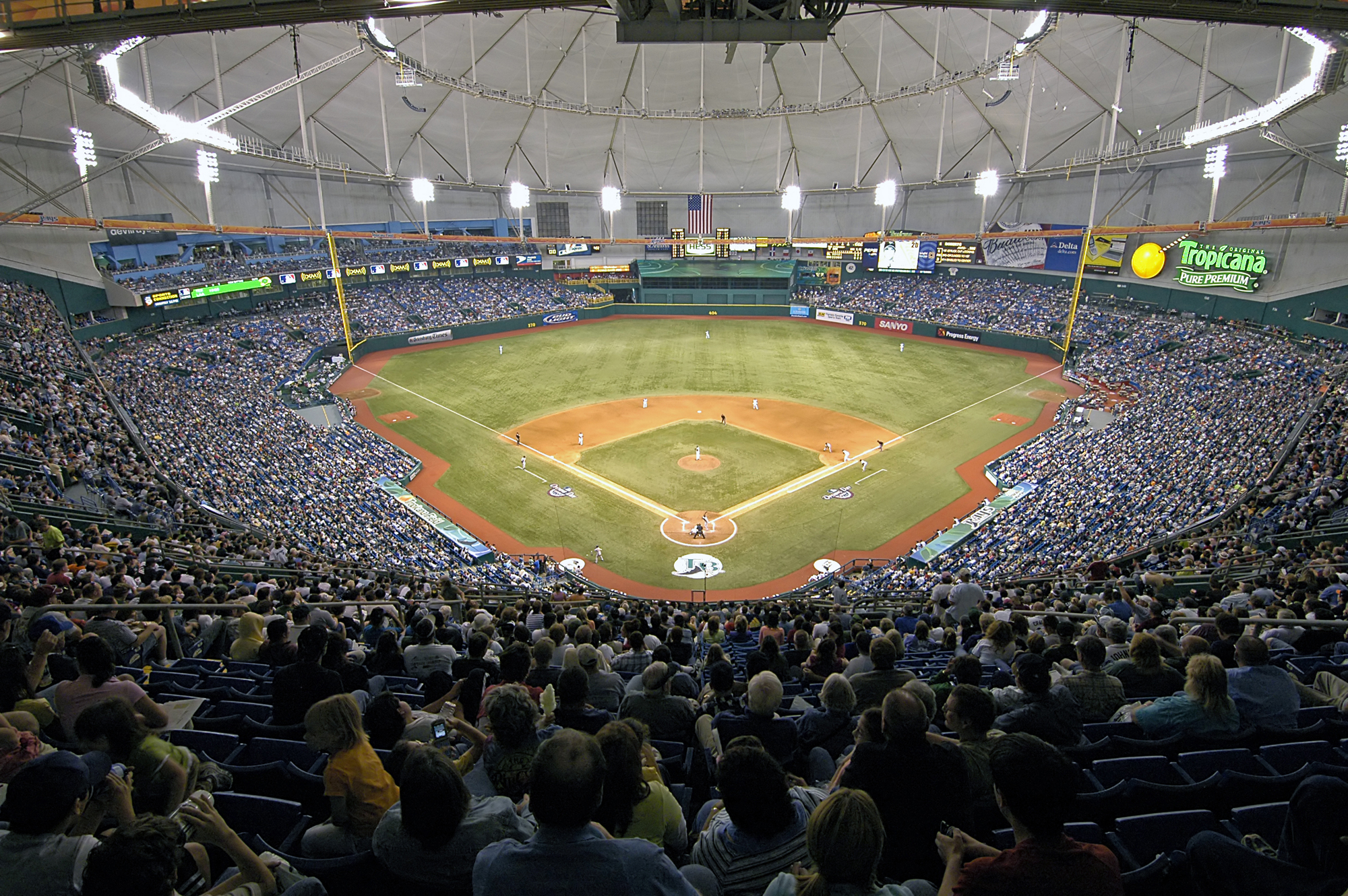 Rays Baseball at Tropicana Field. Photo by City of St. Petersburg.