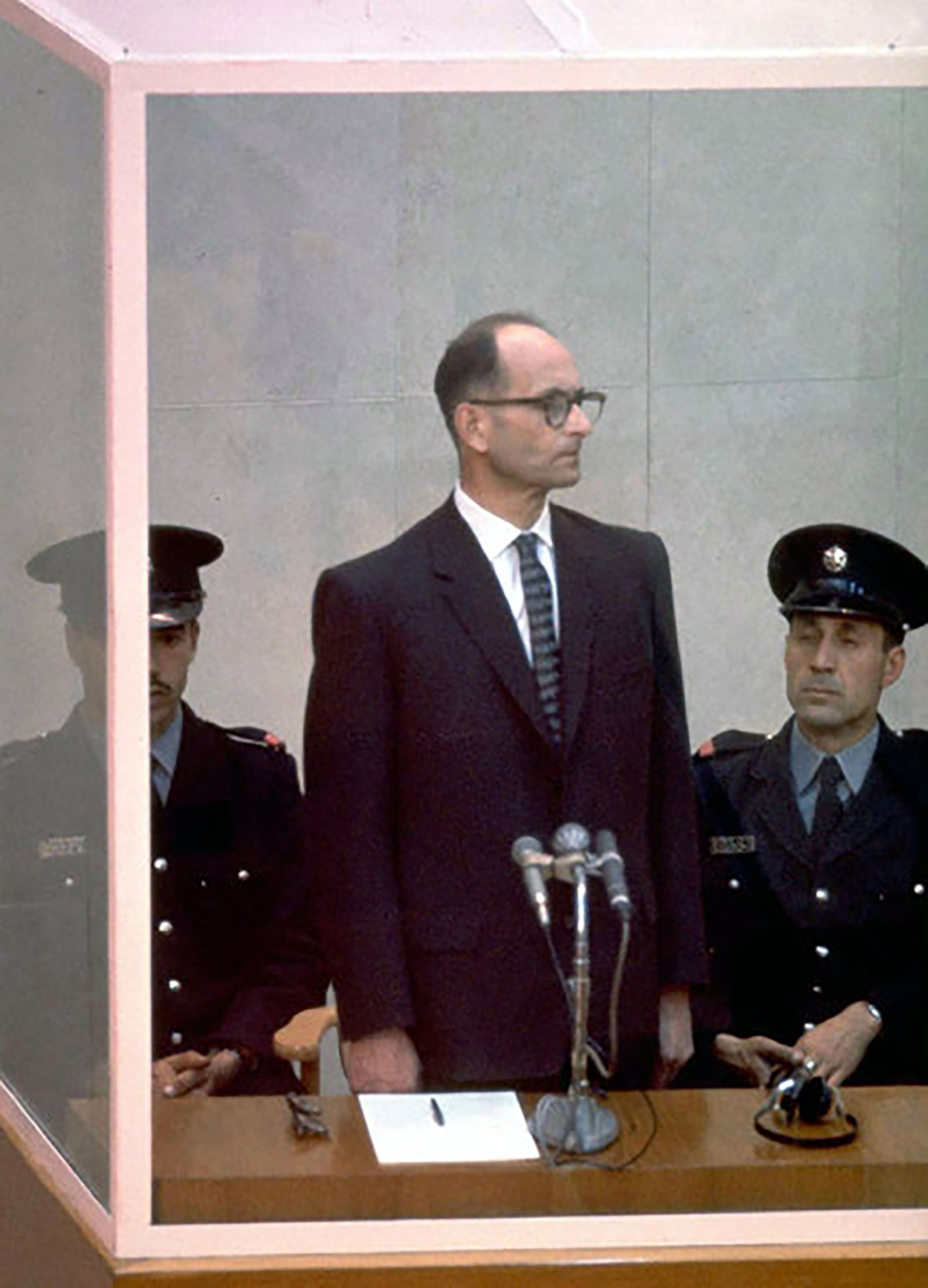 Adolf Eichmann Trial at Beit Ha'am in Jerusalem, Israel, 1961 Photo courtesy of Government Press Office