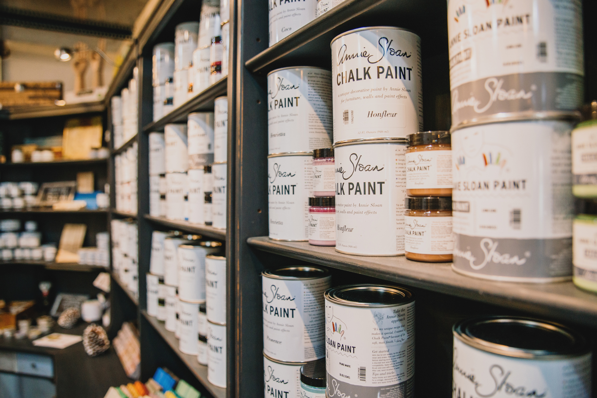 Annie Sloan Chalk Paint® Available at Buster's Antiques. By Kelly Nash Photography.