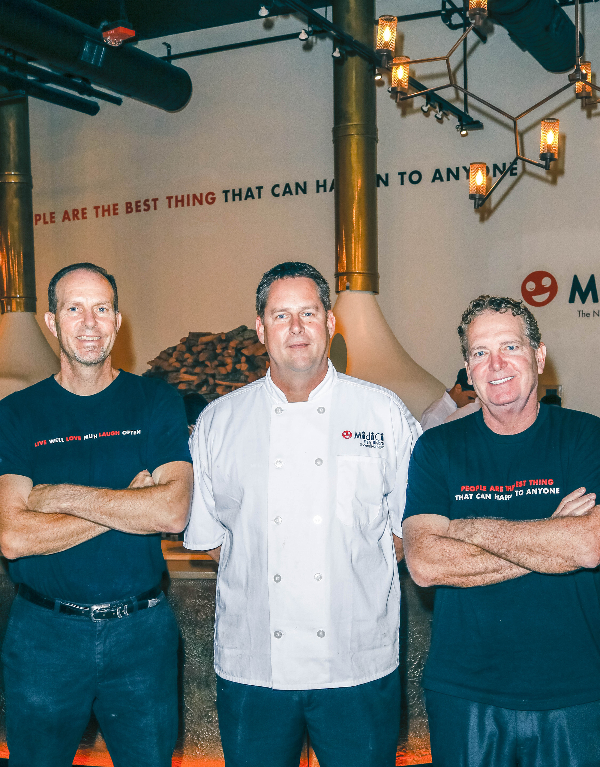 Left to right: Co-franchisee John Eckermann, General Manager Dan Disbro and Co-franchisee Harold Bradshaw