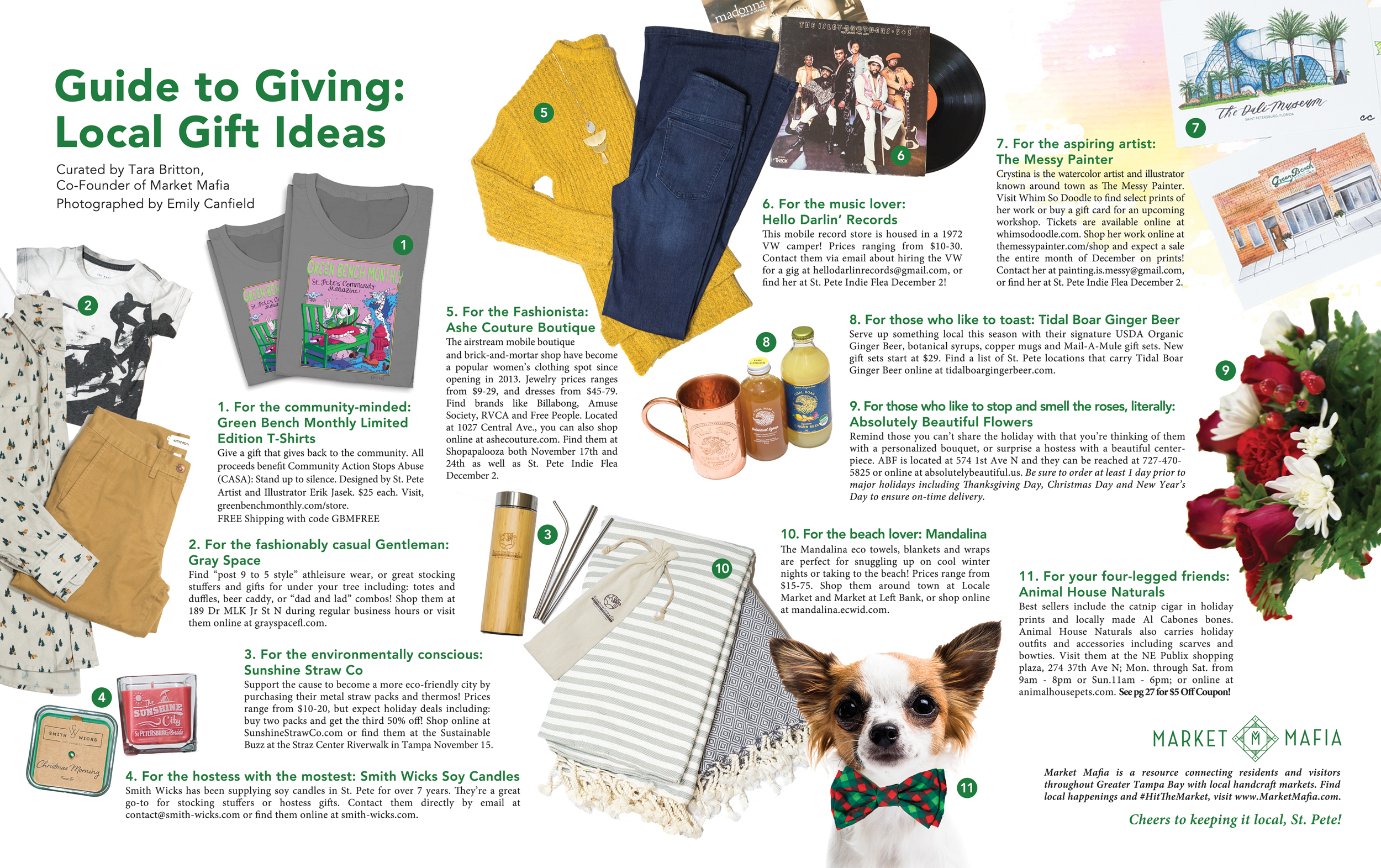 Guide To Giving Local Gift Ideas Green Bench Monthly
